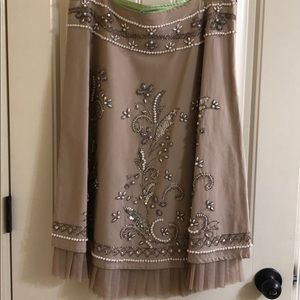 efefd58bb9bd8 Basil and Maude · Ornate tan skirt